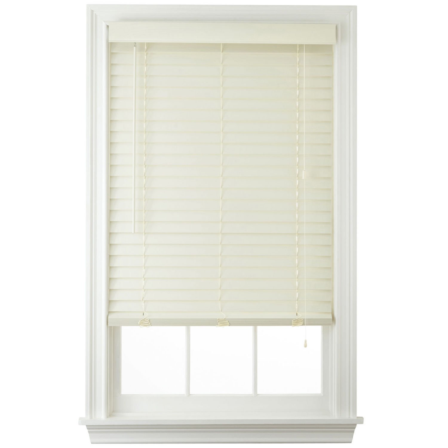 2'' Faux Wood Horizontal Blinds - Cream (46x64)