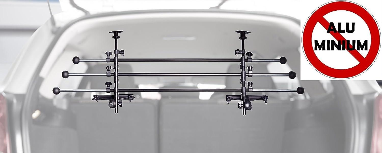 Original IMPAG® Kofferraumgitter Safeguard | 85-150 cm | Hundeschutzgitter oder Gepäckgitter | Trenngitter aus Metall | Stufenlos einstellbar| Universell für alle Autos | Sicherheitsgeprüft Impag GmbH