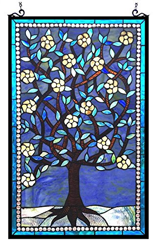 Woodley Window Panel - stained glass wall decor