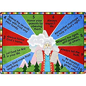 Amazon Com Ten Commandments Rug Rectangle 3 10 Quot W X