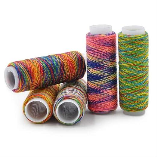 Hilo de coser Rainbow Coser Hilo Máquina De Coser Línea Arco Iris ...
