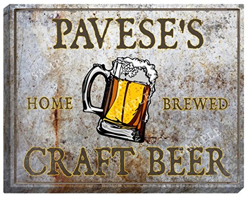 paveses-craft-beer-stretched-canvas-sign
