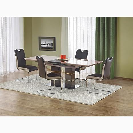 JUSTyou Lord Set tavolo con sedie Tavolo per sala da pranzo Marrone ...