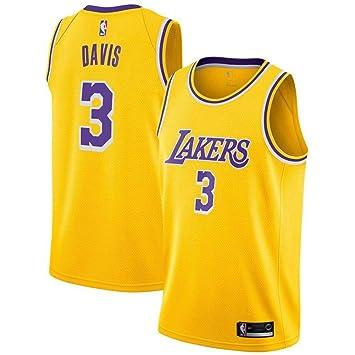 Boruo NBA Hombre Jersey,Lakers n#3 Anthony Davis Ropa de ...