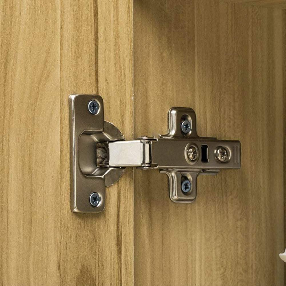 Bisagra para muebles bisagras para puerta armario puerta muebles esquina plegada bisagra de cierre lento sin ranura requerida fácil de instalar (4 unidades): Amazon.es: Bricolaje y herramientas