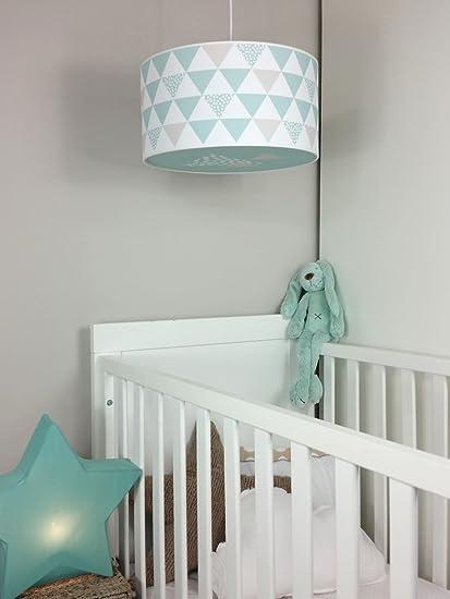 Luminaire enfant/lampe de plafond/Suspension Blanc avec Triangle