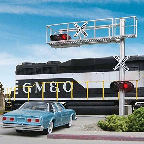 Walthers SceneMaster, HO Scale, Modern, Single-Lane Cantilever Grade Crossing Signal