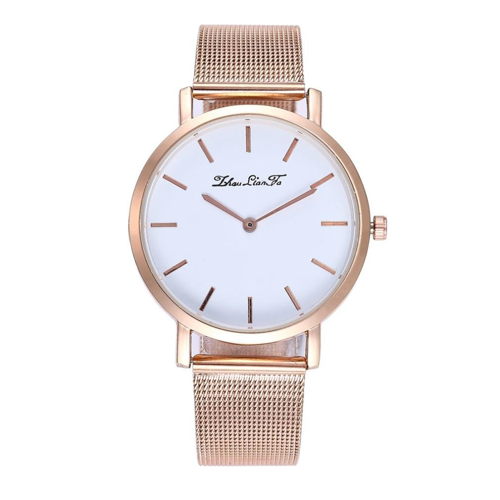 Swyss Women Large Face Watches Simple Business Quartz Wristwatch Chic Charm Elegant Accessories New HOT Fashion (Gold)