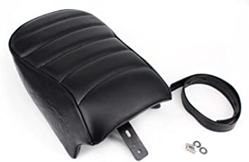 Artudatech Motorbike Rear Passenger Seat Motorcycle Passenger Rear Seat Leather Pillon Seat Cushion Replacement For Harley Sportster XL1200 883 72 48 2012-2016