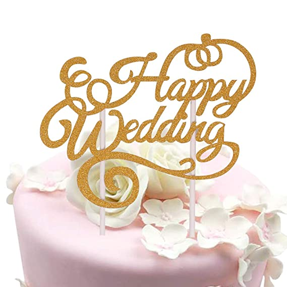 Sunny Zx Glitter Happy Wedding Cake Topper Happy Anniversary