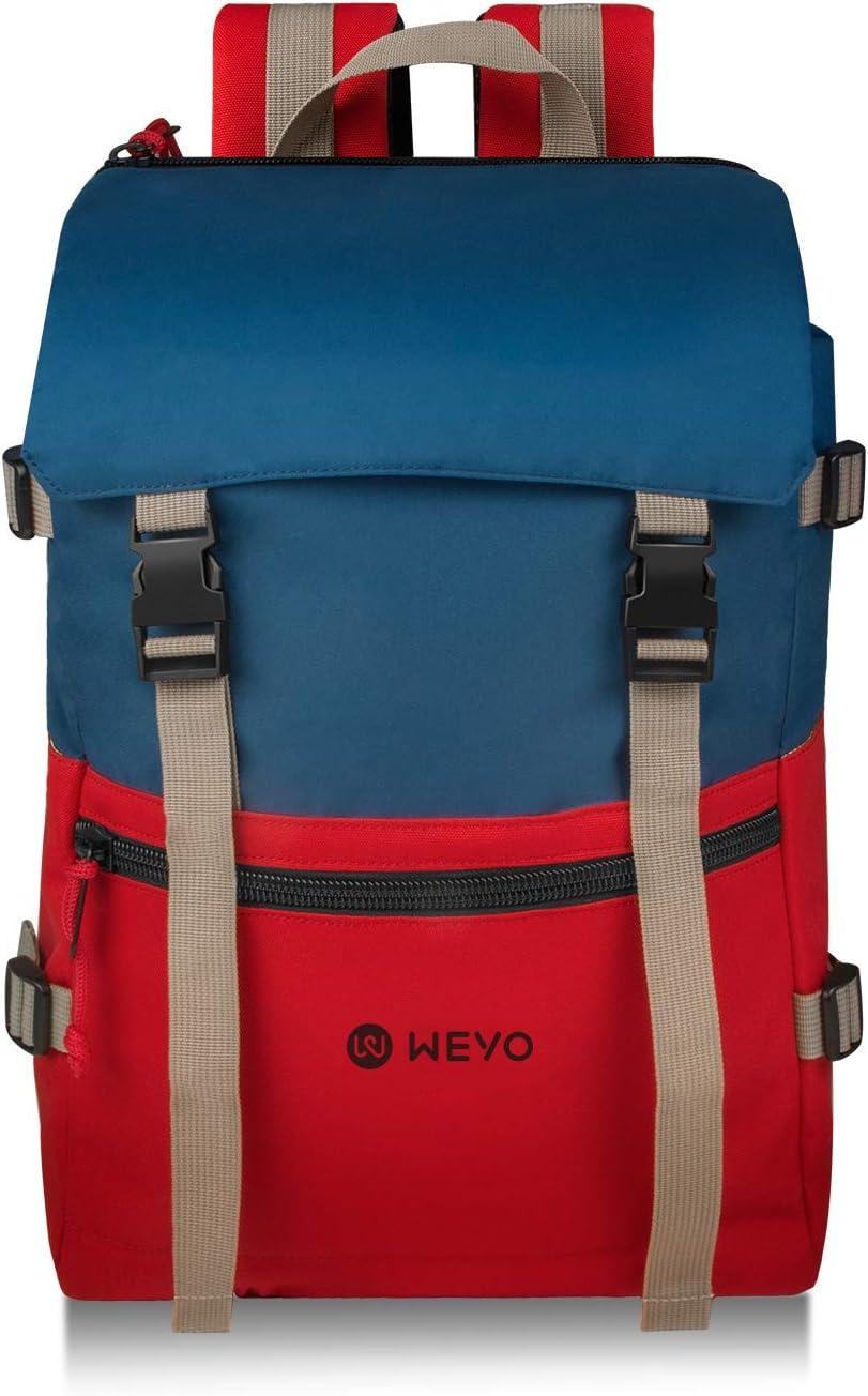 Rosso e Blu Laptop Backpack Multifunzione antifurto Borse Backpack Daypack per Scuola Lavoro Viaggio Campeggio Sport Outdoor WEYO Zaino Casual Donna e Uomo