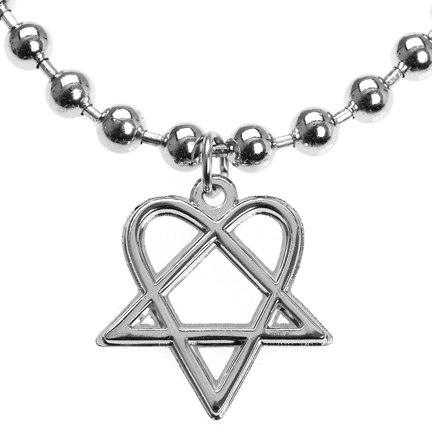 Him heartagram ball chain necklace amazon aloadofball Image collections