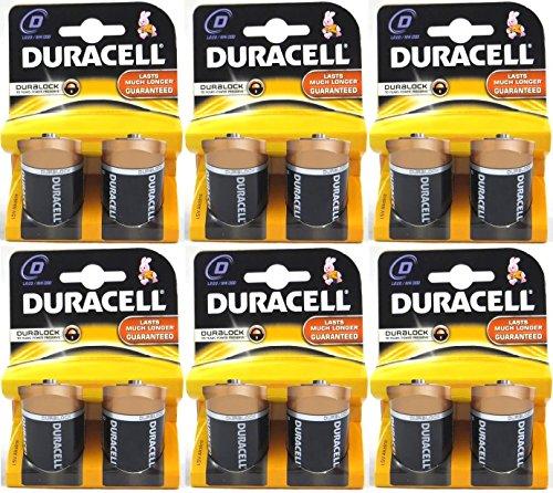 Duracell Alkaline Batteries Size D, 12 Batteries (6 X 2 Count Packs)
