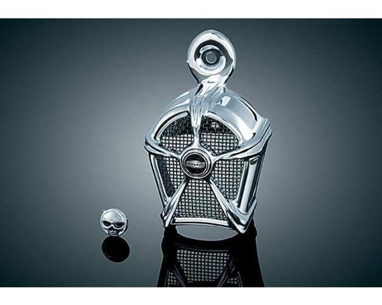 Kuryakyn Mach 2 Horn Cover - Chrome with Black Mesh XF-1-41-9461