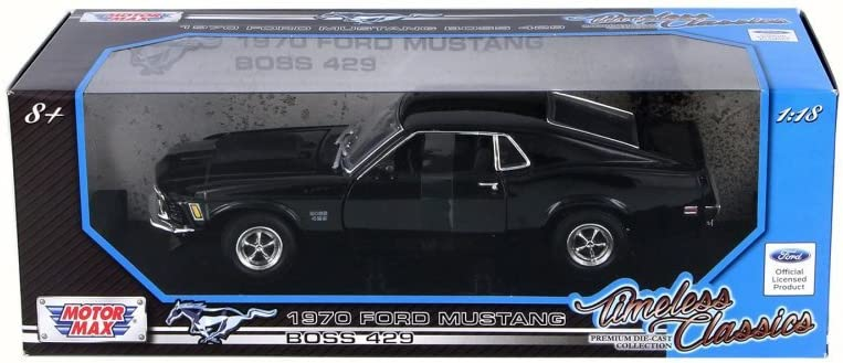 1970 Ford Mustang Boss 429 American Classic 1:18 scale Diecast Model Car Black