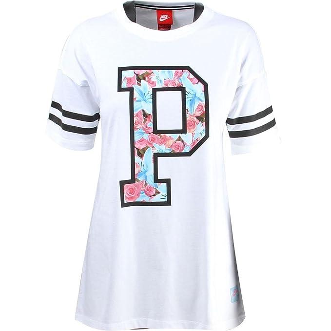 NIKE Womens City Pack T Shirt Paris WhitePink Black 704030 100