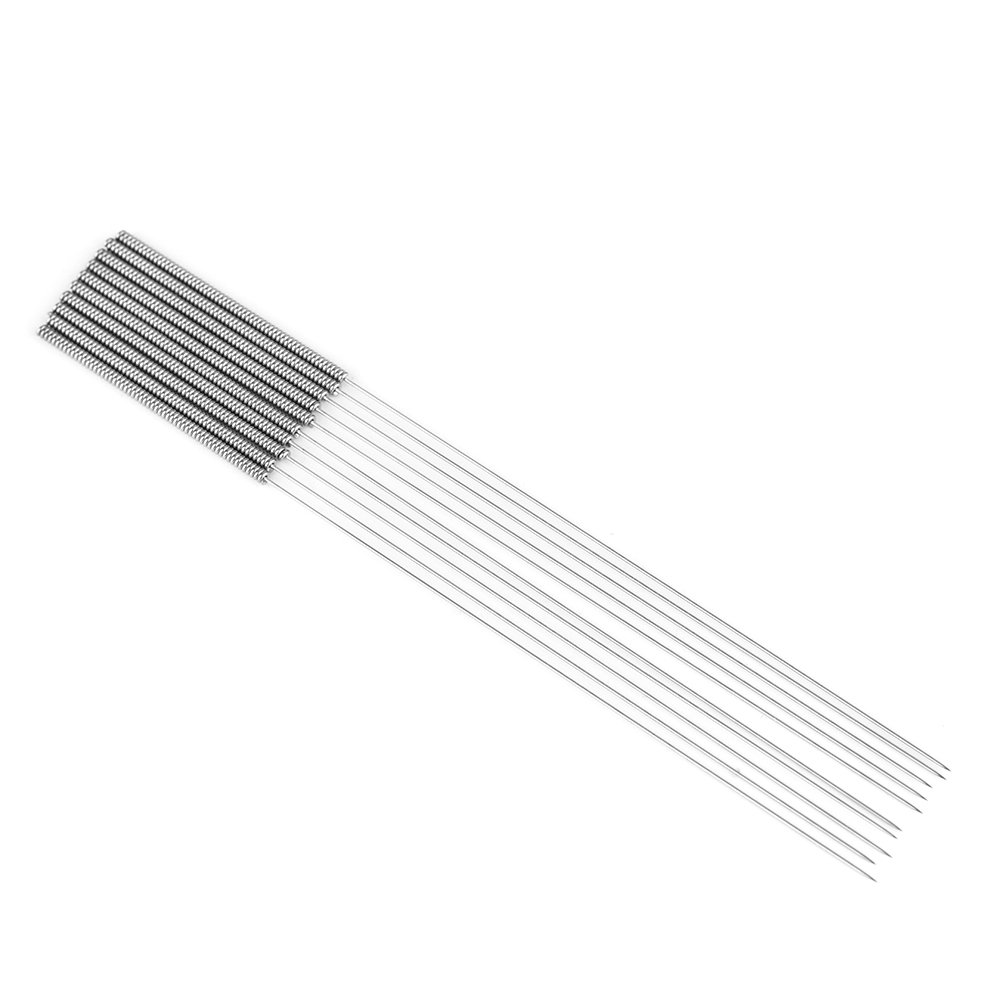 Richer-R 3D Printer Needle, 10Pcs/Box 0.4mm Nozzle Cleaning Needle Flexible, Reusable, Durable and Not Easy to Break for 3D Printer Accessory