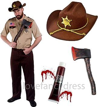 ILOVEFANCYDRESS Disfraz DE Cazador DE Zombis Traje DE Sheriff con ...