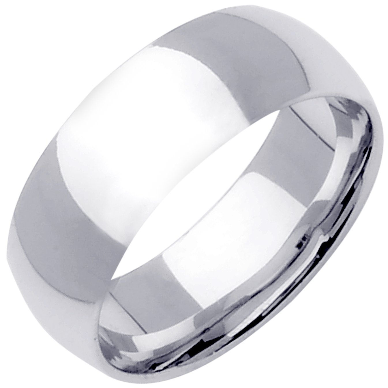Platinum Traditional Classic Women's Comfort Fit Wedding Band (10mm) Size-5c1