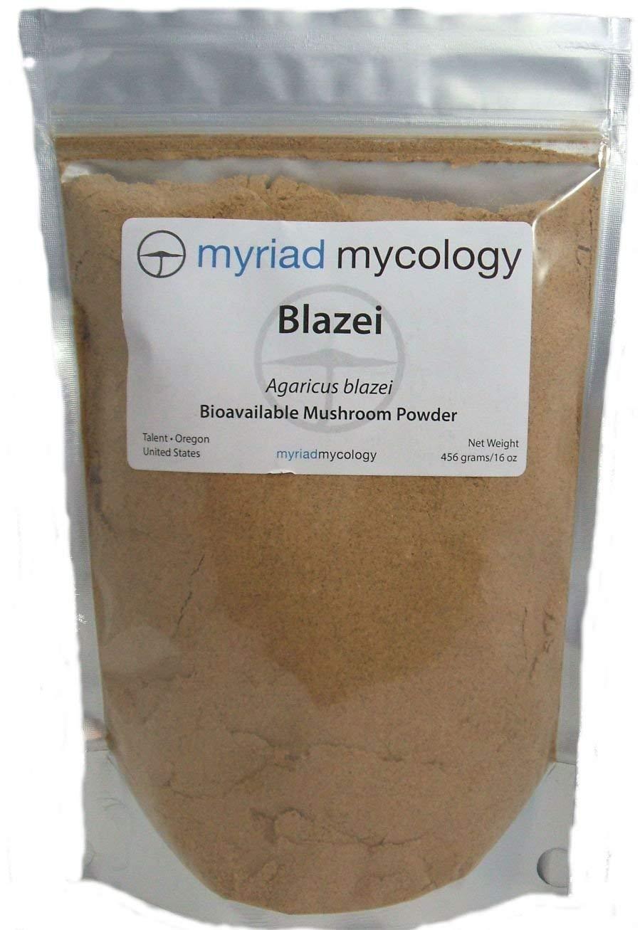 Myriad Mycology Blazei Mushroom Powder 16oz or 1lb, Made in USA / Ji Song Rong by Myriad Mycology (Image #1)