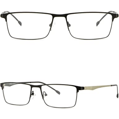 a914ef2237c Black Full Rim Thin Light Men Women Titanium Frame Rectangular Rectangle  Glasses
