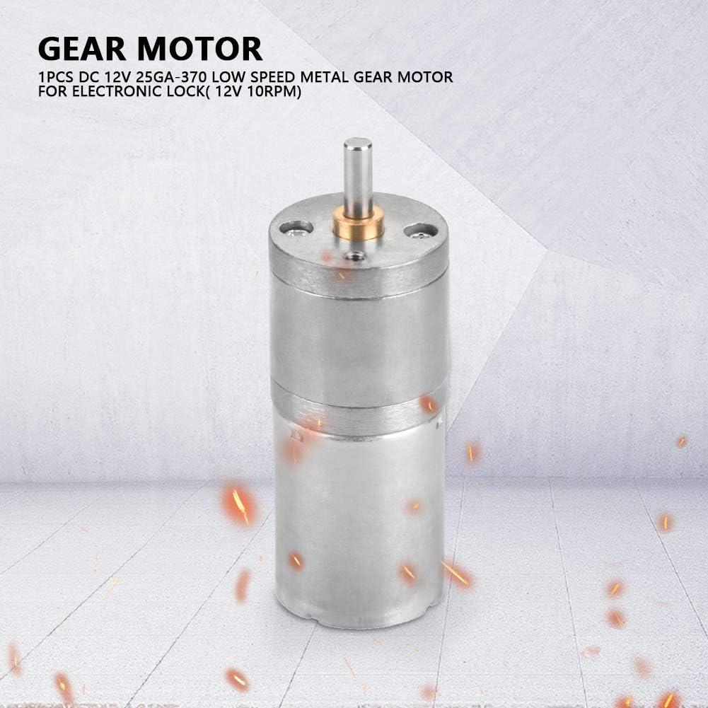 Moteur /à Engrenages en M/étal /à Faible Vitesse 12V 25GA-370 de 25mm Moteur /à Engrenages CC 12V 30RPM