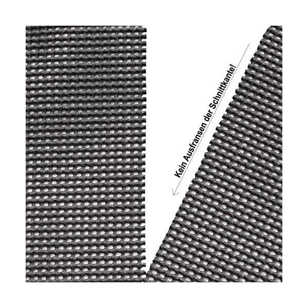 61P6pGaliWL Vorzeltteppich Soft Breite 250/300 - ZUSCHNEIDBAR - ohne Ausfransen - formfest - weich - grau - leicht - waschbar…