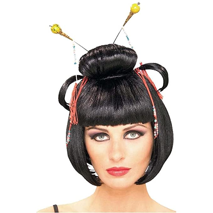 Amazon.com: Geisha asiático dama disfraz peluca: Clothing