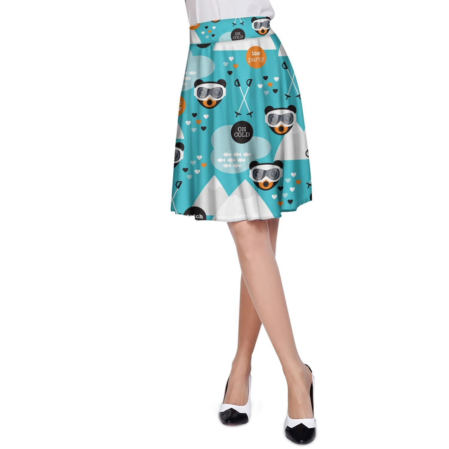 Ski Fun Bears A-Line Skirt Rock XS-3XL