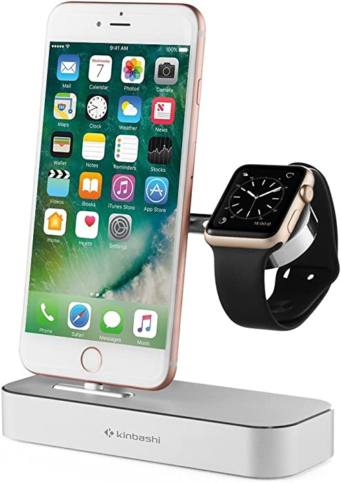 Kinbashi MFI Certified Charging Dock with USB Hub for Apple iPhone iWatch and Other USB Devices (Apple Watch Magnetic Charger are NOT INCLUDED)