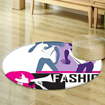 Amazon Com Round Rugs For Bedroom Teen Girls Decor Composition Of