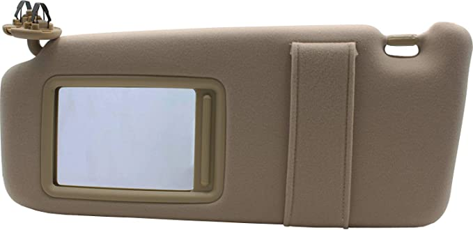 FlyingAMZ Left Driver Side Sun Visor Fit for 2007 2008 2009 2010 2011 Toyota Camry /&Toyota Camry Hybrid Without Sunroof and Light-Beige