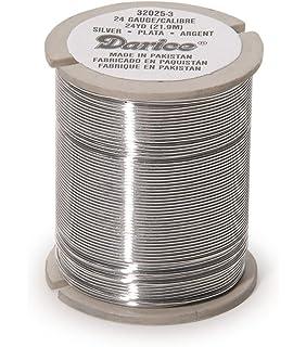 Amazon.com: Darice 26-Gauge Beading Wire, 22-Yard, Silver