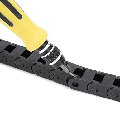 ZHM Nylon Towline Cable Drag Chain Wire Carrier 1.03 M Length 10x15mm