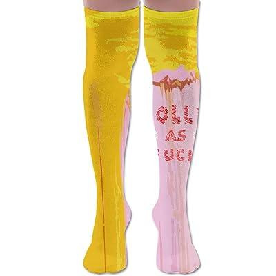 Jolly As Fuck Knee High Football Soccer Socks Tube Sports Casual Long Socks