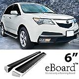 "eBoard Running Boards Aluminum 6"" For 2009-2012 Honda Pil..."