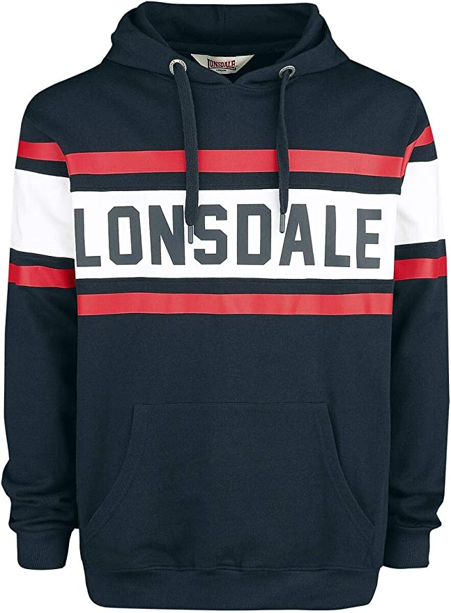 Lonsdale London Herren Rudston Hooded Sweatshirt: