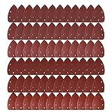 #1: LEOBRO 72 Pcs 140mm Mouse Detail Sander Sandpaper Sander Pads Sanding Sheets Assorted 40 60 80 120 240 Grits Shipping by FBA