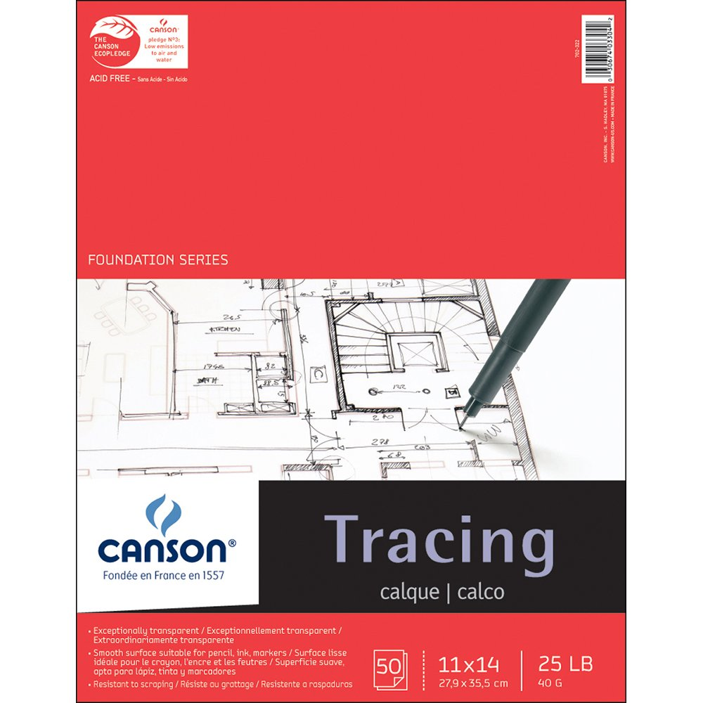 Pro-Art 702-322 11-Inch by 14-Inch Canson Tracing Paper Pad, 50-Sheet Notions - In Network