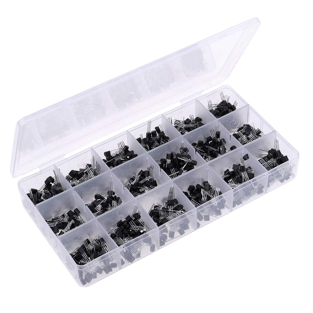Baoblaze 900 Piezas 18 Valores (x 50) NPN/PNP Kit de Surtido Transistores de Potencia