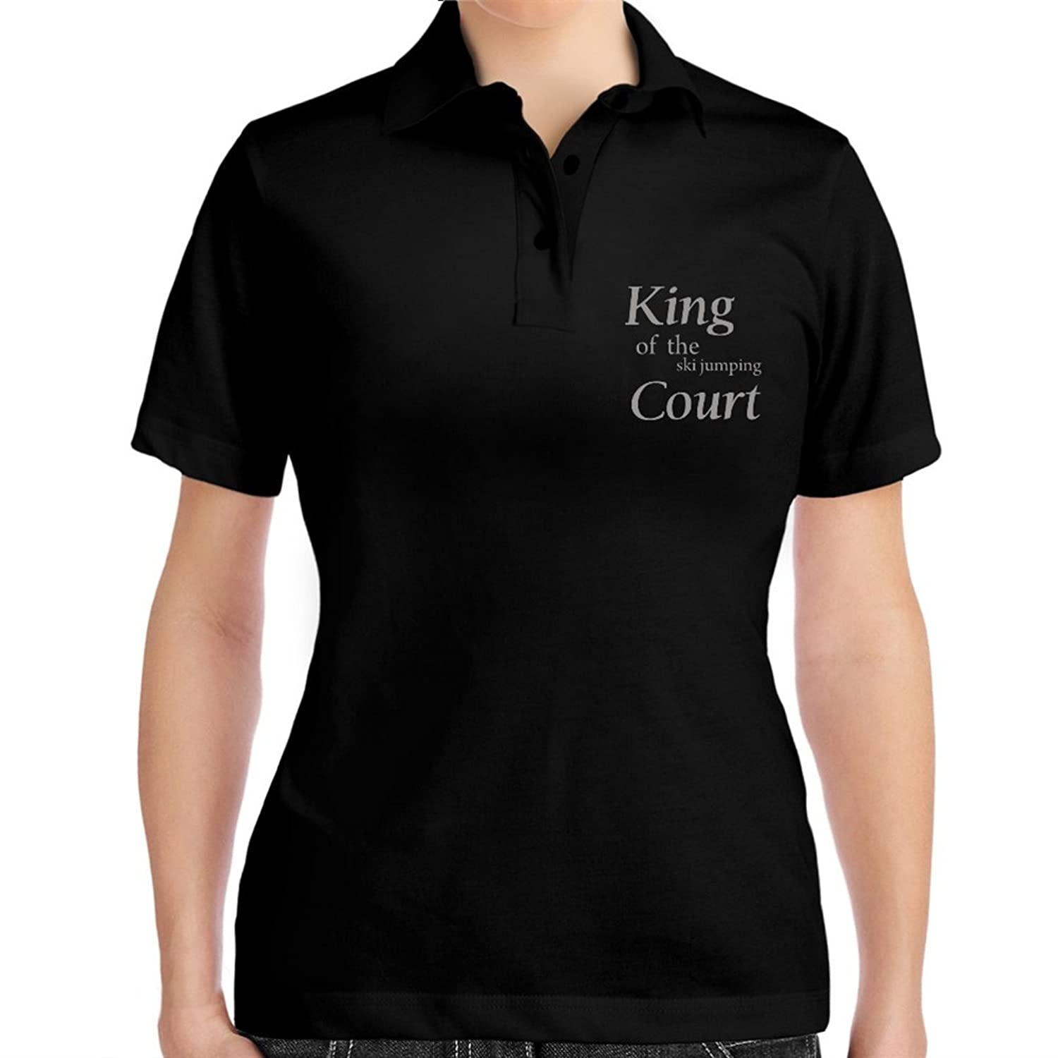 King of the Ski Jumping court Women Polo Shirt