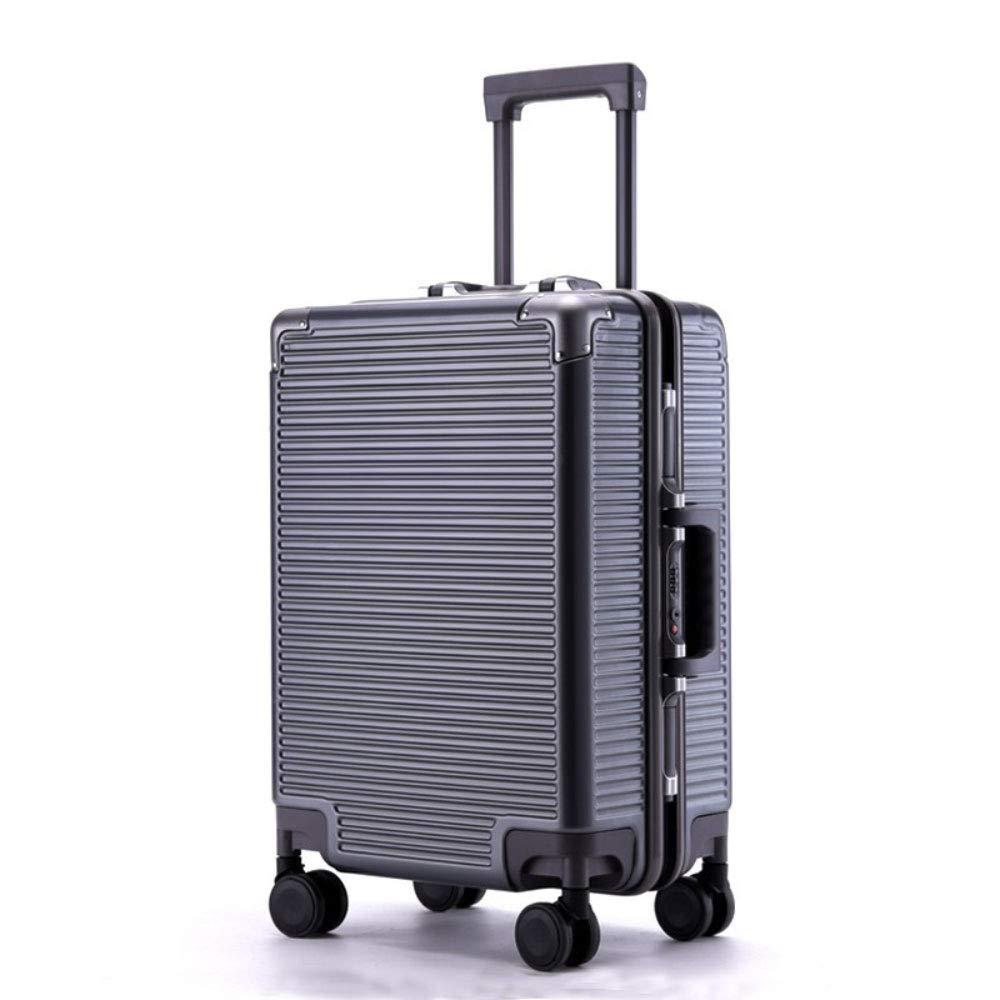 トロリーケース20/24インチスクラッチ耐摩耗性アルミフレームキャスタースーツケース (Color : Dark gray, Size : 24 inches)   B07QZV5FFH