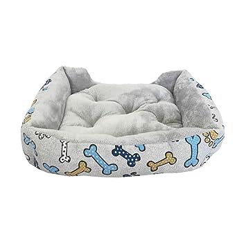 Cama para Perro y Gato Estampado Huesos Azules Cuna Y COJÍN 75 * 55 cm: Amazon.es: Hogar