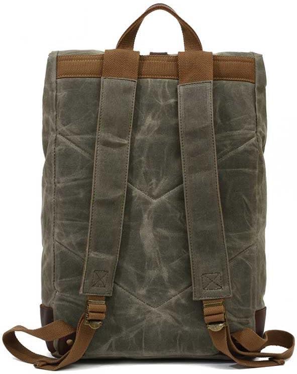 Oil Wax Backpack New European and American Leisure Waterproof Canvas Bag Large Capacity Men and Women Package