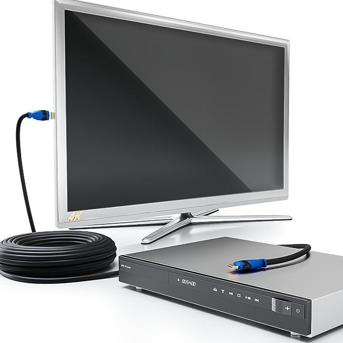deleyCON 25m ACTIVO Cable HDMI Amplificador/Extender / Ecualizador: Amazon.es: Electrónica