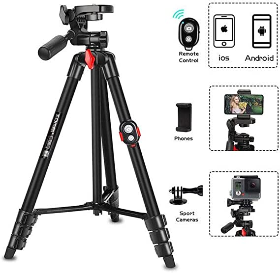 Portable Tripod with Phone Clip and Bluetooth Remote