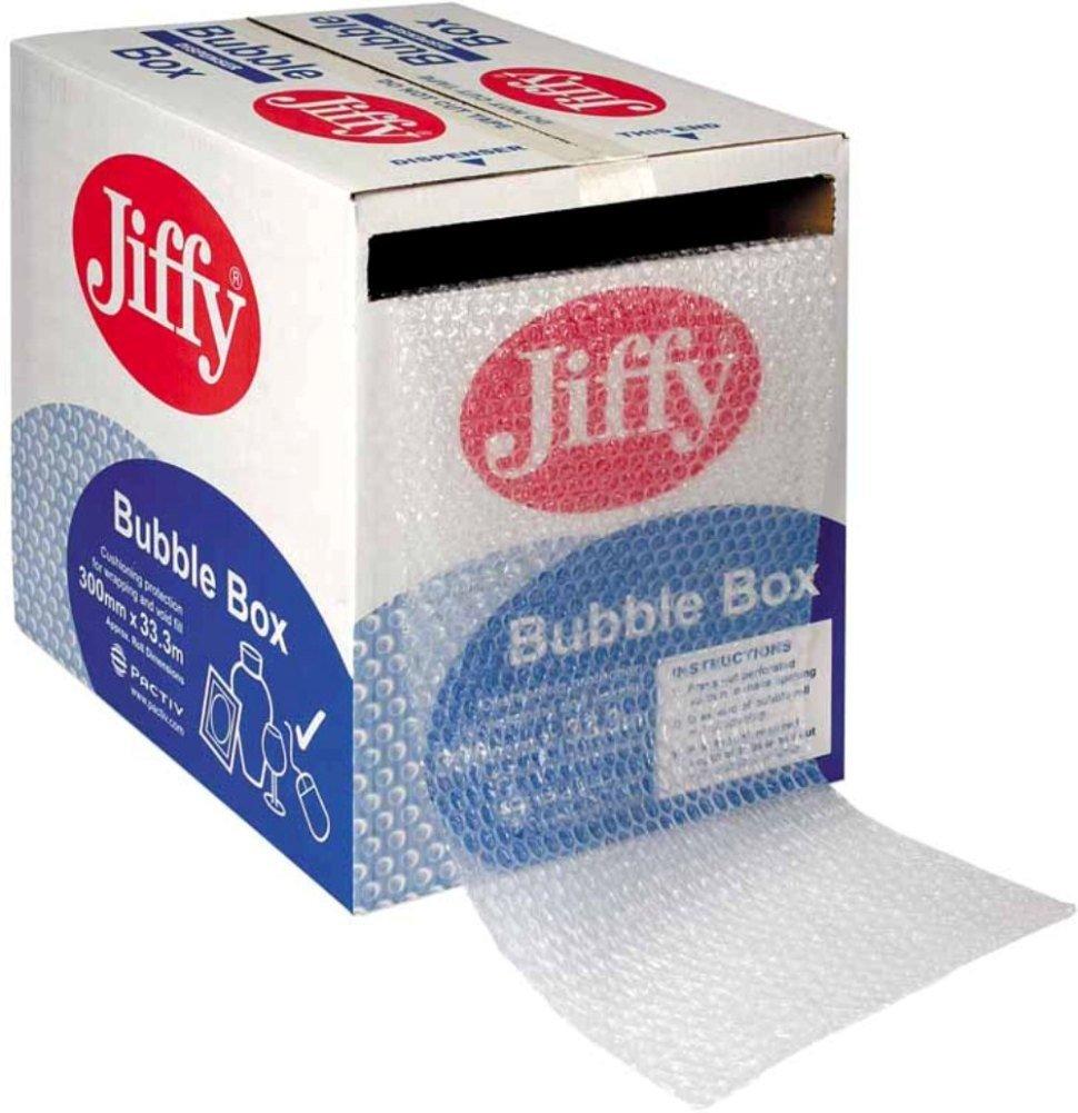 Jiffy Bubble Dispenser Box, 300mm Wide x 50m Long (Single Box)