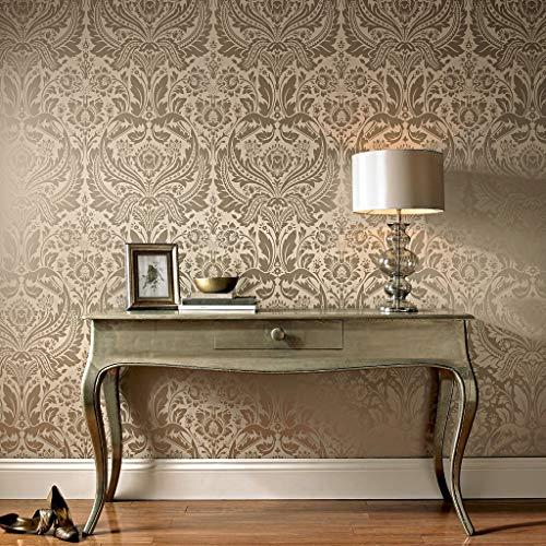 (Graham & Brown 50-186 Desire Wallpaper, Taupe)