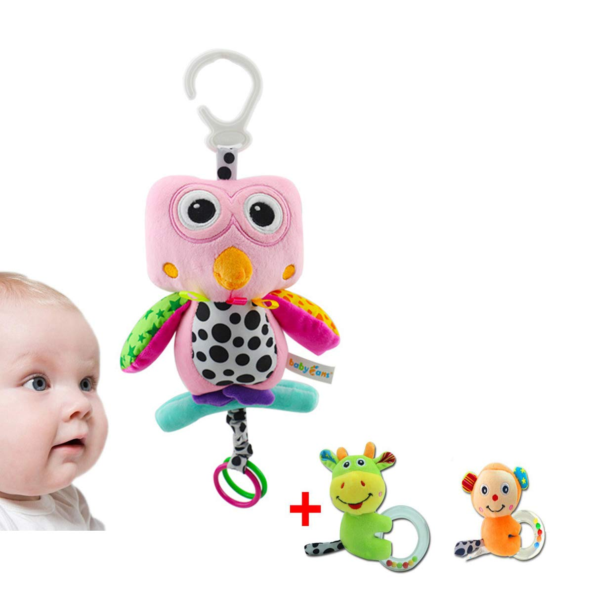 Gufo Appeso Bambola Sonaglio, Appeso Bambola per Bambini con Musica, CE Certified