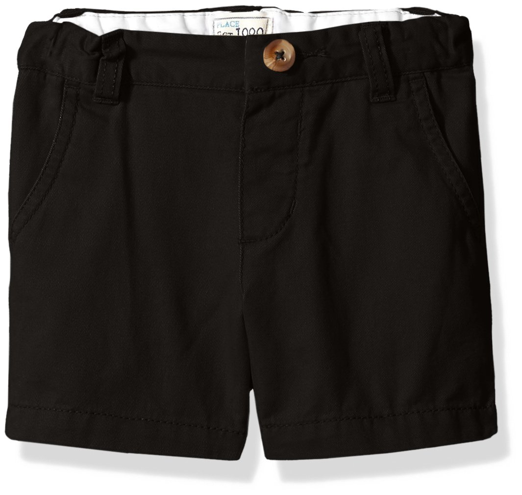 The Children's Place Baby Boys' Chino Shorts, Black 45119, 6-9 Months